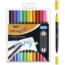 Pack 8 rotuladores stripes  apli kids 16809 - punta redonda ø7.5mm - lavables - tinta larga duración - colores surtidos